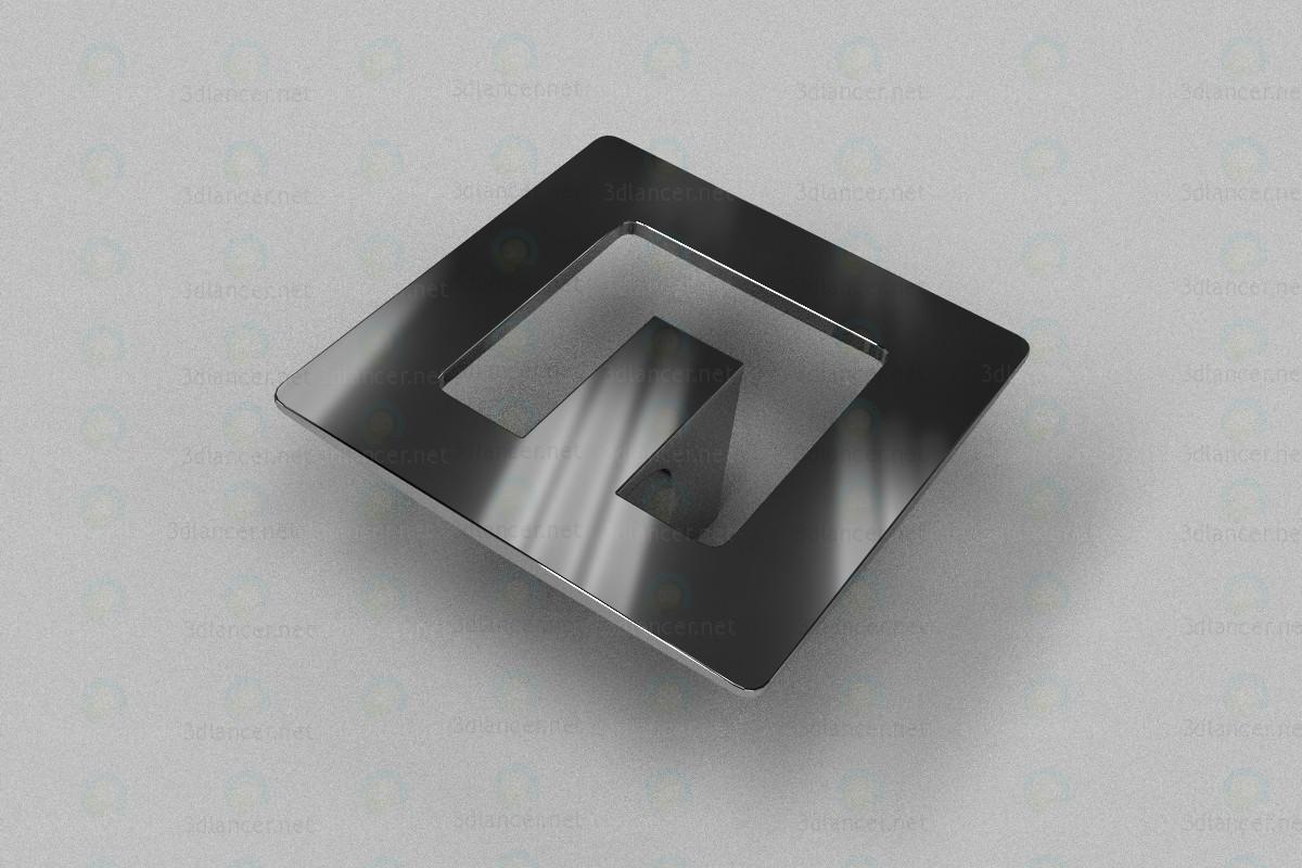 3d Ручка-кнопка хром GS1604 модель купить - ракурс