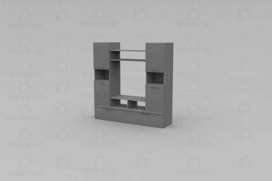 3d моделювання Меблева стінка модель завантажити безкоштовно