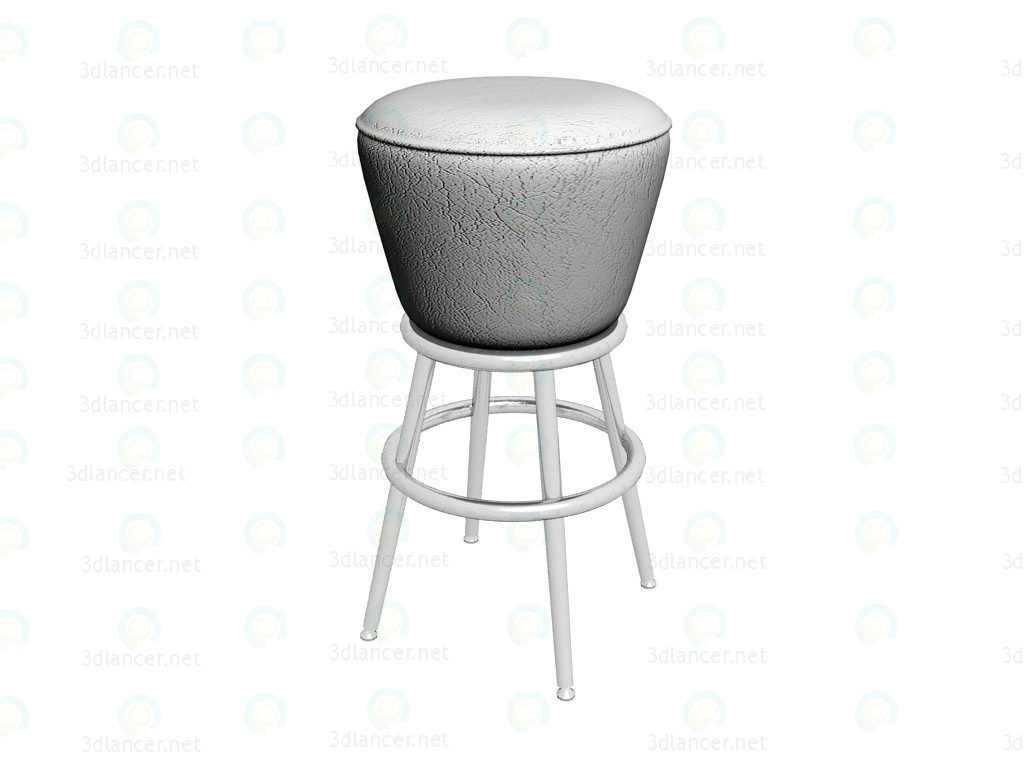 3d model Bar Chair Lady Rock, white - preview