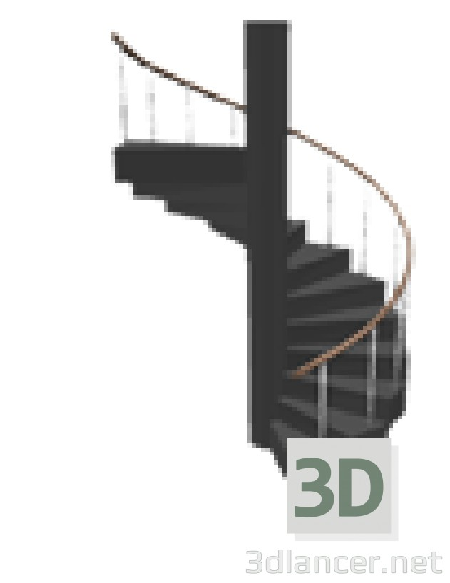 3d model spiral staircase id 15082 for Sweet home 3d italiano