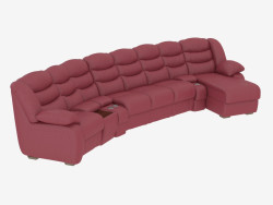 Sofa rounded with a sleeper