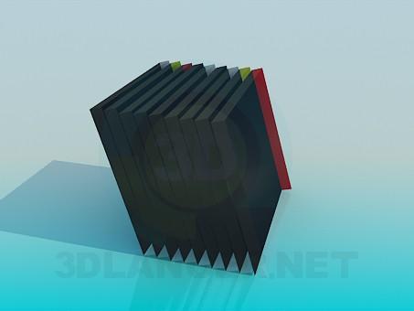 modelo 3D Libros en un estante - escuchar
