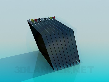 3d model Books on a shelf - preview