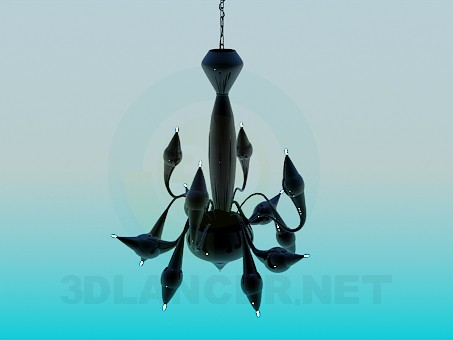 3d model Chandelier with small lights - preview