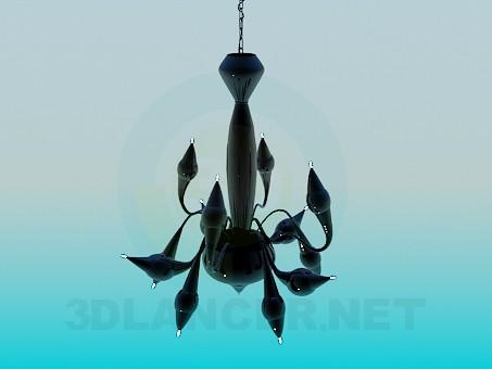 3d модель Люстра с маленькими лампочками – превью