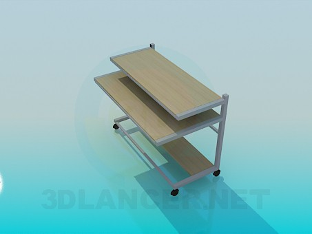 3d model Mobile computer desk - preview