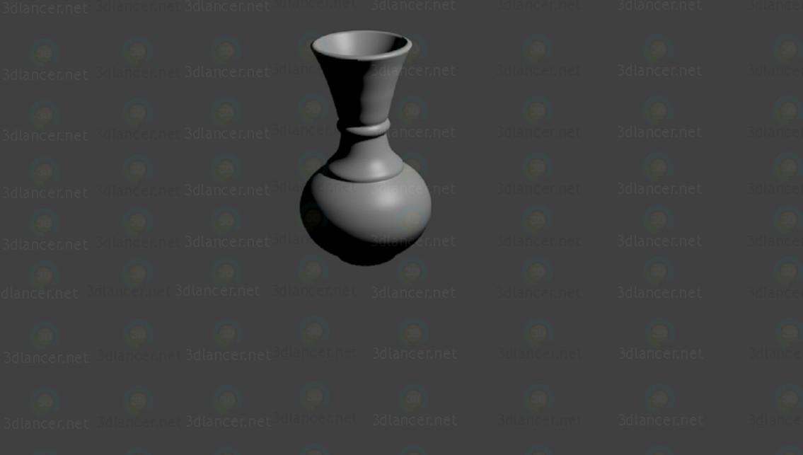 3d Flower Vase model buy - render