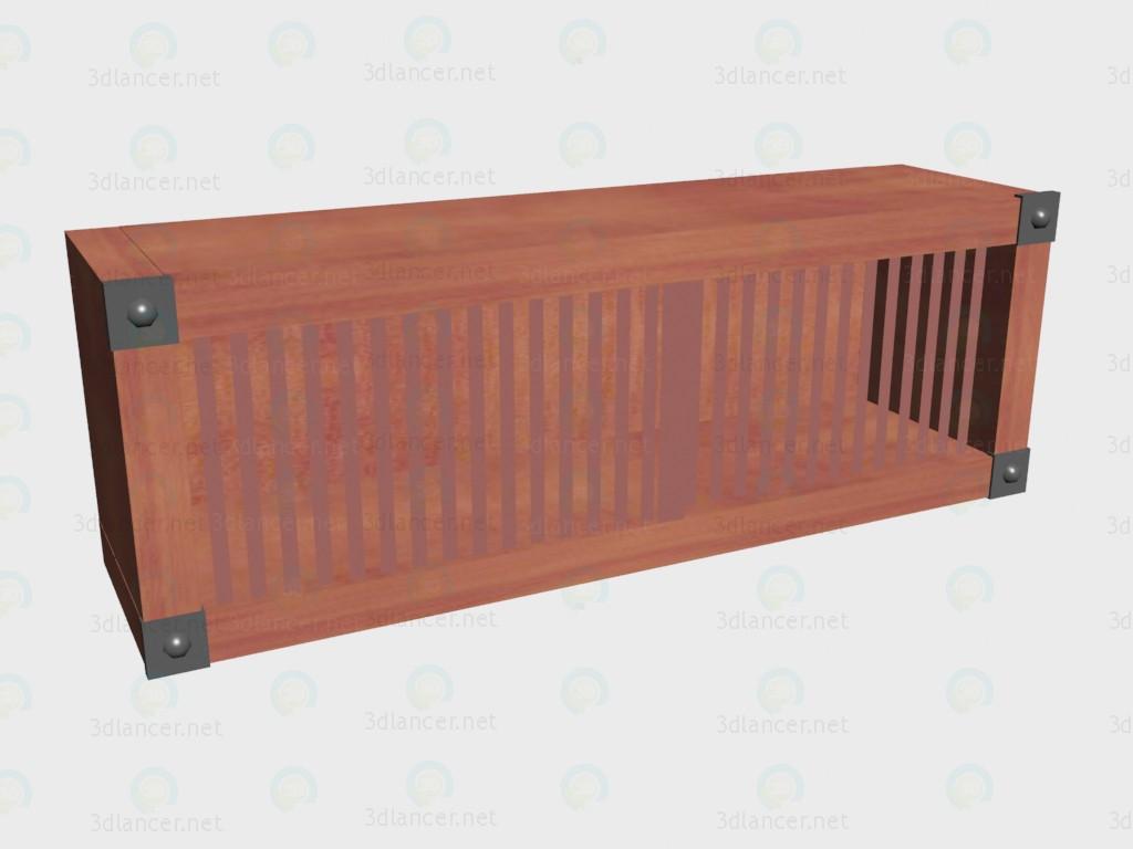3d модель Полка с дверцами раздвижными VOX – превью