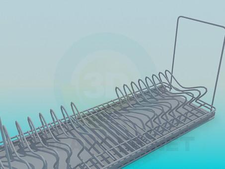 modelo 3D sostenedor del plato - escuchar