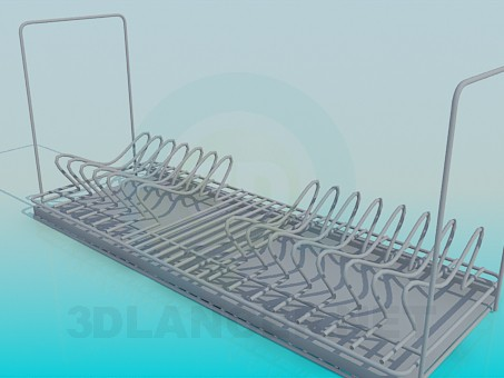 3d model Dish holder - preview