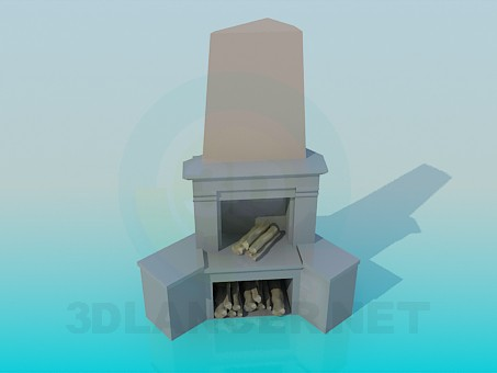 3d model Fireplace - preview