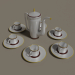 3d model Coffee pot for six people - preview