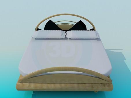 3d моделирование Кровать двухспальная модель скачать бесплатно