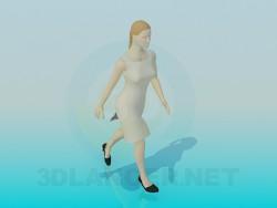 Una mujer en vestido