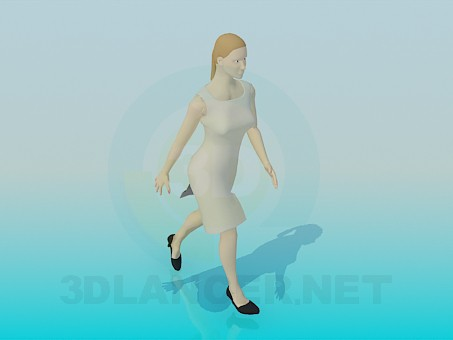 3d modeling A woman in dress model free download