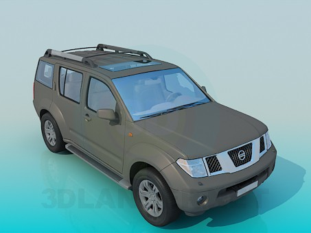 3d modeling Nissan Pathfinder model free download