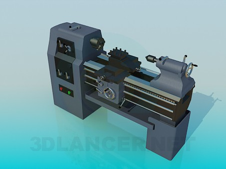 3d model Iron lathe - preview