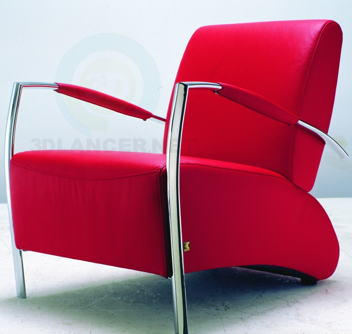 3d model Red chair - preview