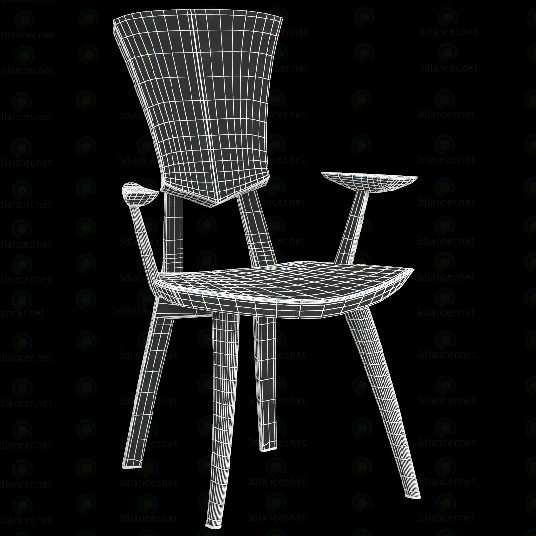 3d  Grand Lily Armchair  model buy - render