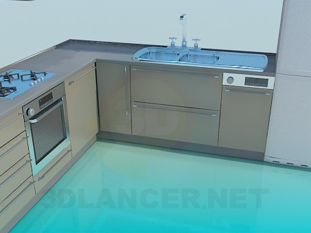 3d model Kitchen High Poly - preview