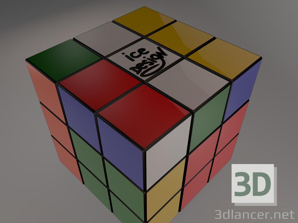 Modelo 3d Cubo De Rubik 3x3
