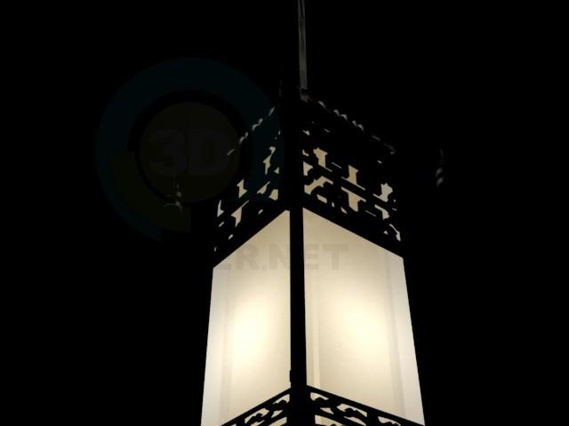 3d модель китайский фонарик – превью