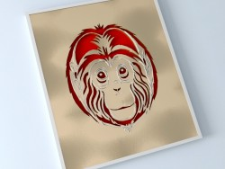बंदर 3 डी