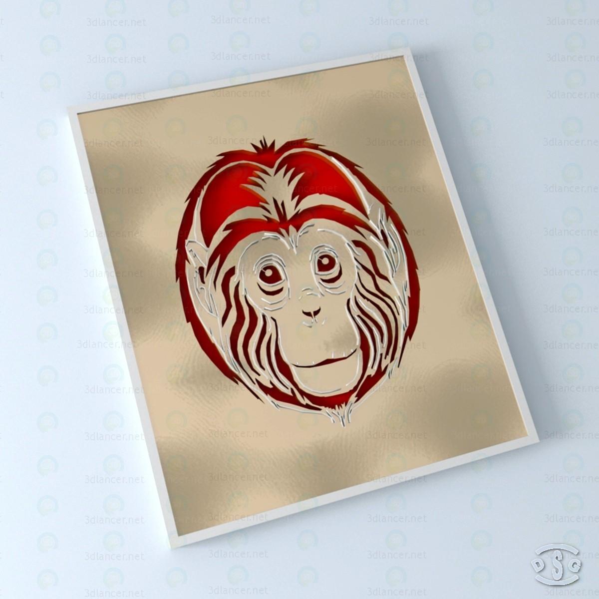 3d Monkey 3D model buy - render