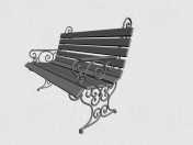 Bench with forged elements