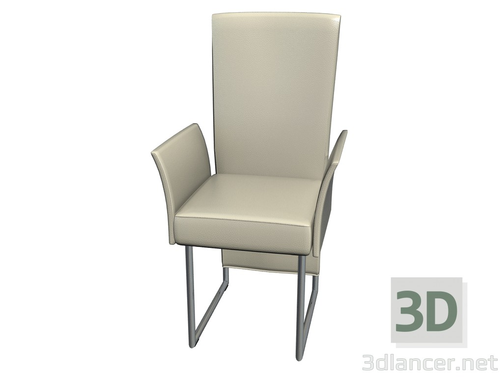 3d model Cantilever chair with armrests 7400 - preview