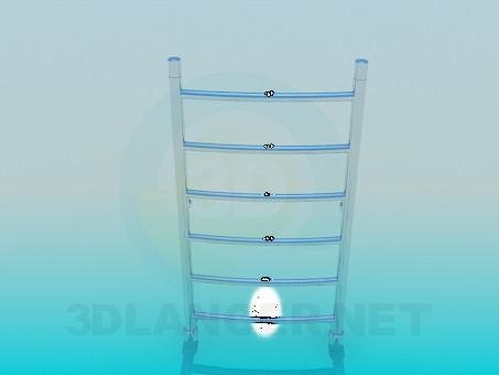 modelo 3D Secador de toallas - escuchar