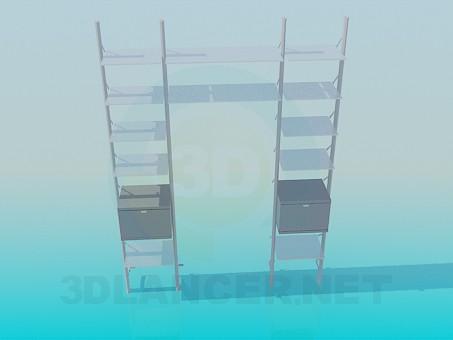 3d модель Стеллаж вокруг кресла – превью