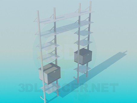 3d model Frame around the chairs - preview