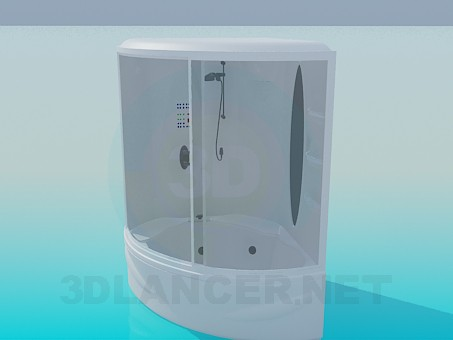 3d model Shower cubicle - preview