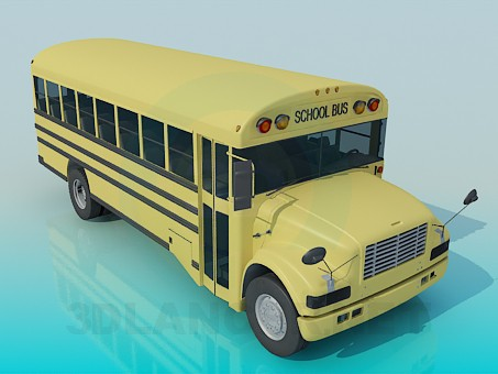 3d model School bus - preview