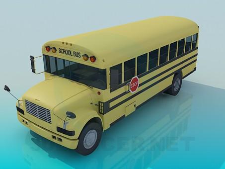 3d model School bus - preview