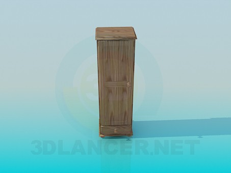 3d modeling The narrow wooden cabinet model free download