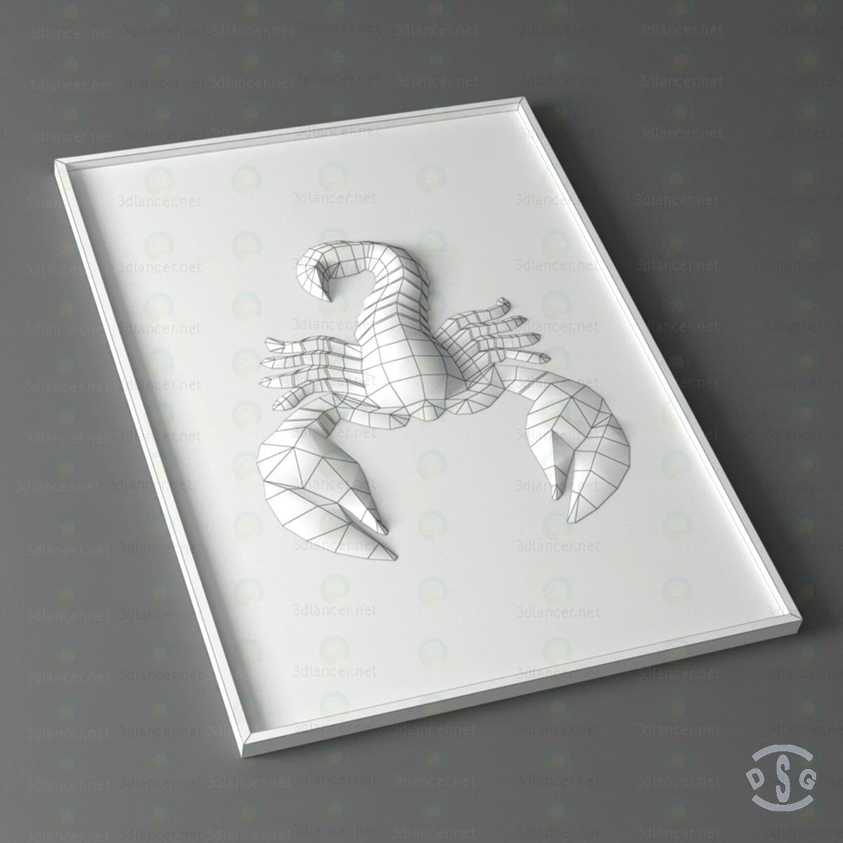 modelo 3D 3D de escorpión - escuchar