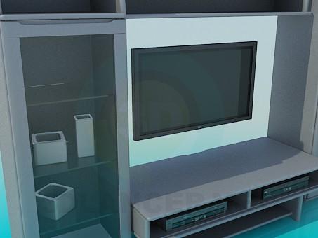 modelo 3D Los muebles de la sala de estar para TV - escuchar