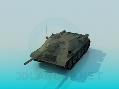 3d model SU-85 - preview