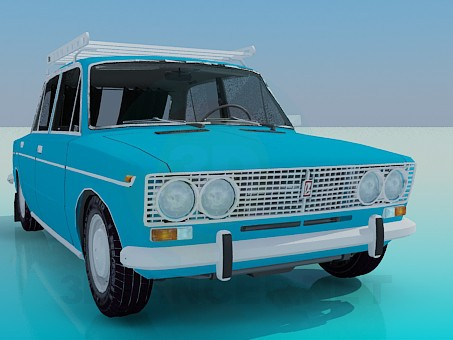 3d modeling VAZ 2103 model free download