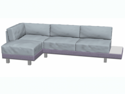Sofa modern three-seater