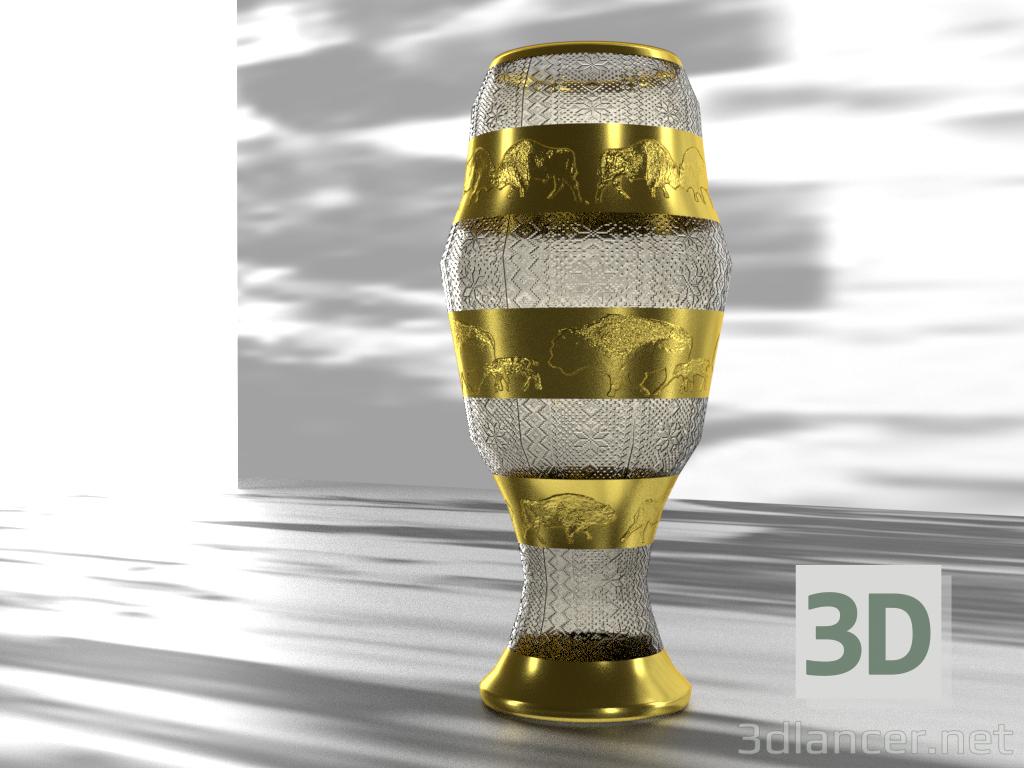 3 डी मॉडल फूलदान बाइसन - पूर्वावलोकन