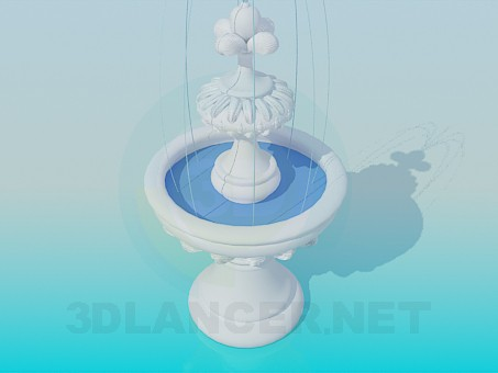 modelo 3D Fuente - escuchar