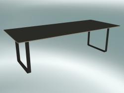 Tavolo 70/70, 255x108 cm (nero)