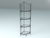 Cast iron shelves
