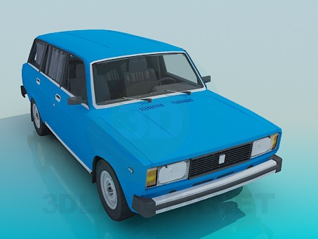 3d modeling VAZ 2104 model free download