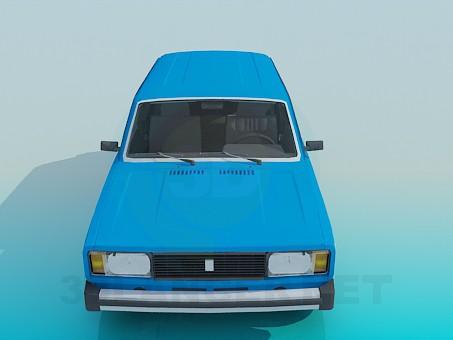 3d модель ВАЗ 2104 – превью