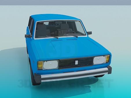 modelo 3D VAZ 2104 - escuchar