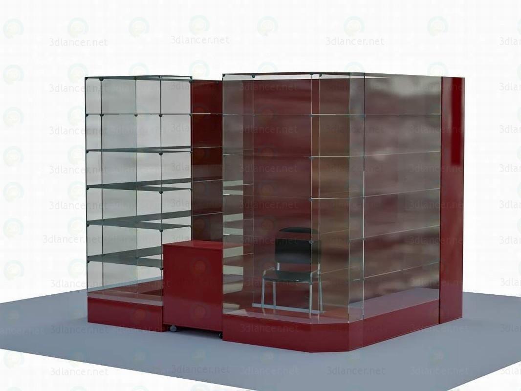 3d Витрина модель купить - ракурс